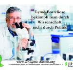 LB bekämpft man durch Wissenschaft Din A 3 Poster