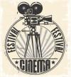 Cinema festival stamp